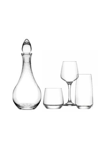 Lav Lal Çeyiz Seti 20 Prç. Su Bardak - Bardağı - Meşrubat Bardağı Renkli